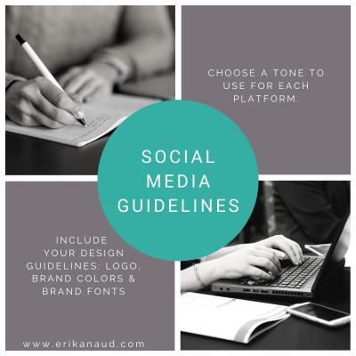 6 steps to create a social media strategy: social media guidelines