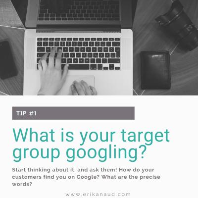 Understand Google's ranking : target group