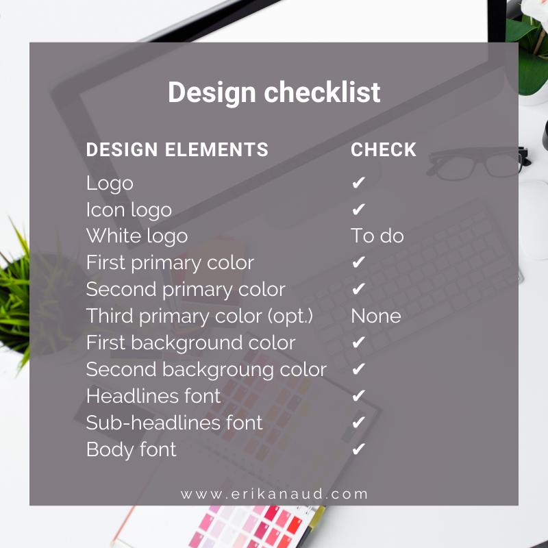 Design checklist - design guidelines - Inbound Marketing strategy