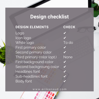 Start your Inbound Marketing strategy : Design checklist