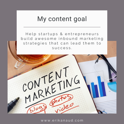 Start your Inbound Marketing strategy : content goal