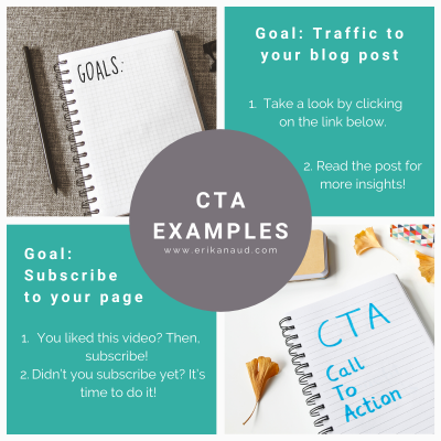 Tips to post on social media: CTA examples