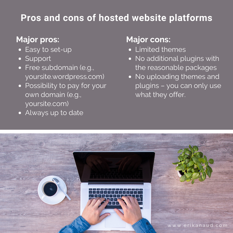 Pros and cons of self-hosting