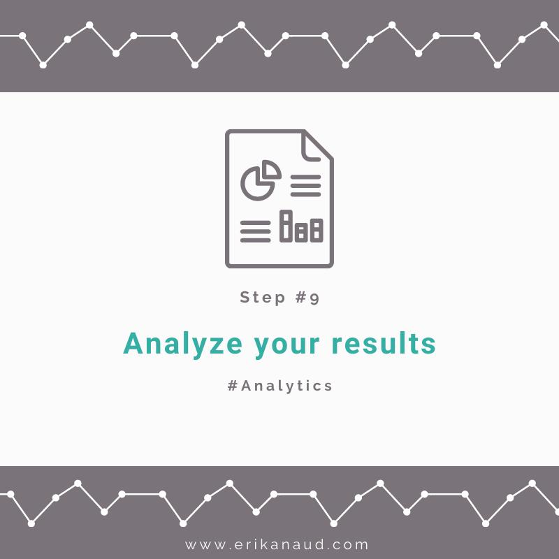 Content Calendar Step 9: Analyze your results