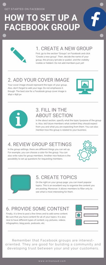 Facebook group infographic