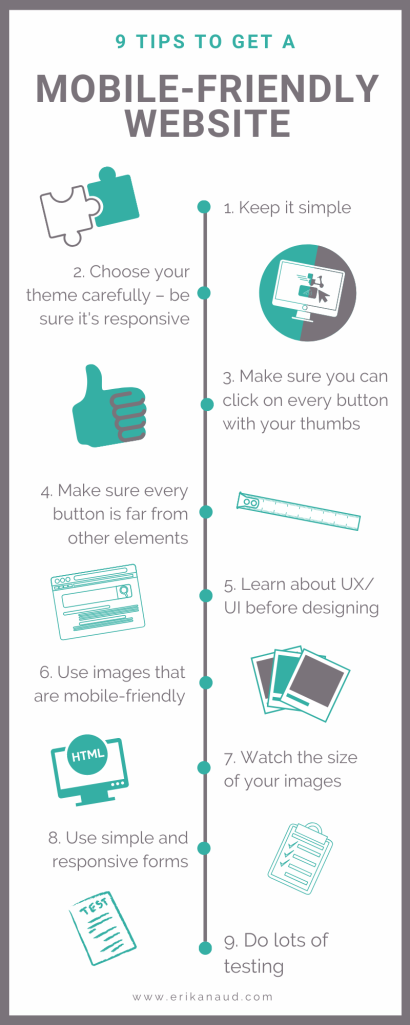 9 tips to get a mobile-friendly website - infographic